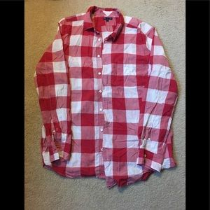 Gap Casual Red and White Button Down